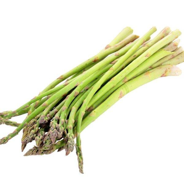 Asparagus tips green