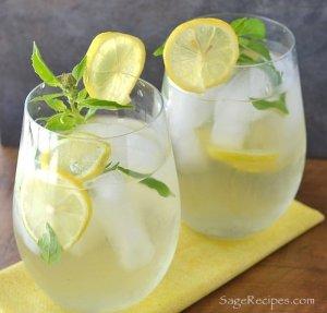ginger and lemon iced tea
