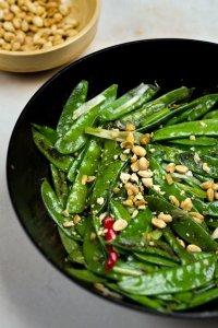 Spicy Wok-Charred Snow Peas