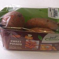 Nieuwe verpakking zoete aardappelen