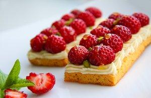 framboosaardbei taartje